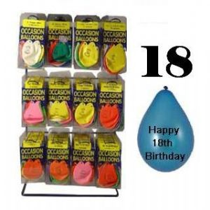 Pack of 10 Balloons - Age 18 / Happy 18th Birthday